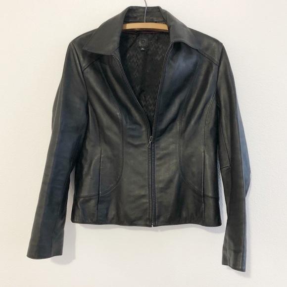 4754e53bc Wilson's Leather Black Moto Jacket Women's Medium
